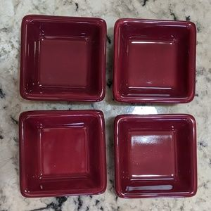 The Pampered Chef Set Petite Squares Cranberry NIB